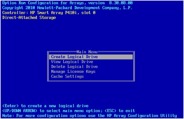 HP Proliant DL380G7, where is [F8] menu? | IT Blog